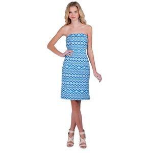 BADGLEY MISCHKA BELLE STRAPLESS DRESS Womens 12